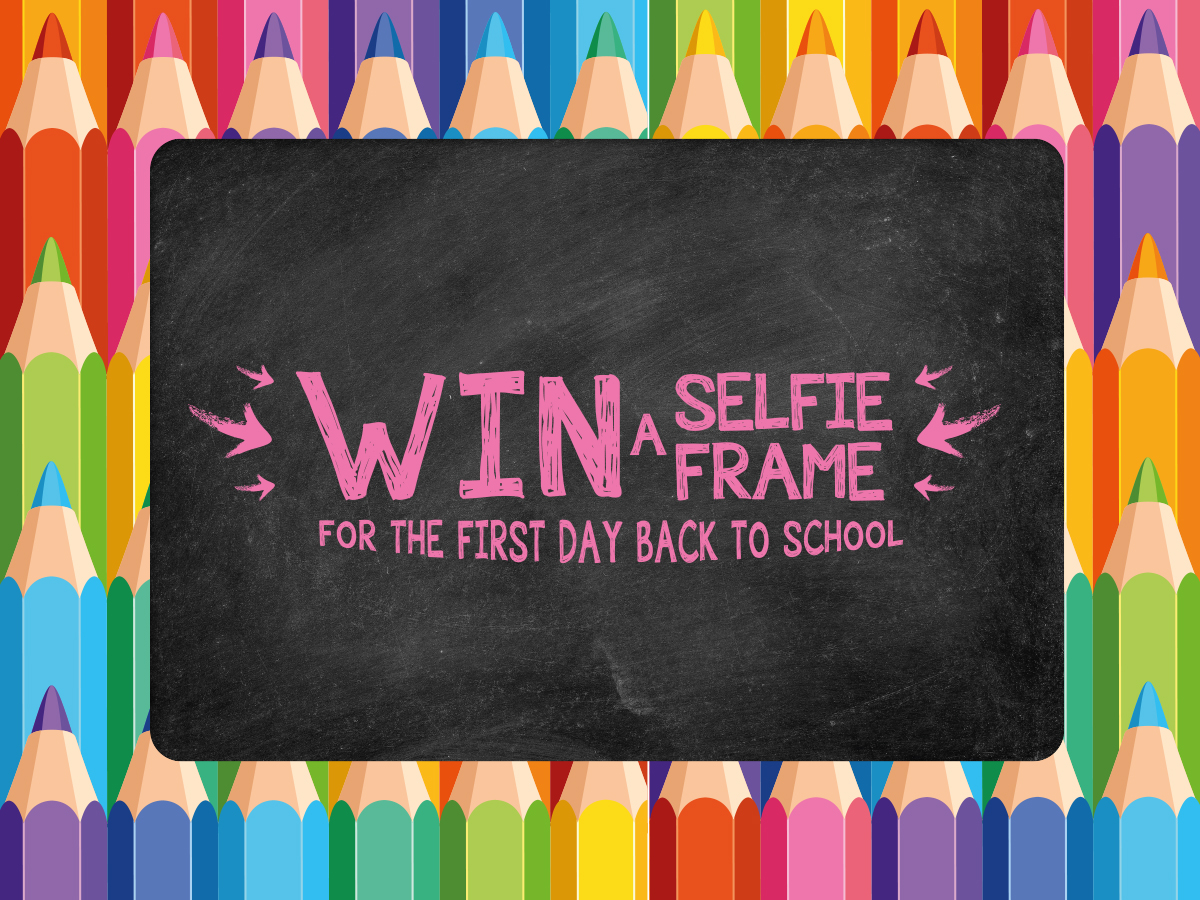 Competition: Win 1 of 10 Selfie Frames to Celebrate Back to School!
